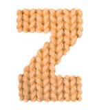 El alfabeto inglés de la letra Z, colorea la naranja Foto de archivo