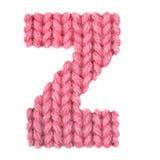 El alfabeto inglés de la letra Z, colorea rojo Fotografía de archivo