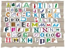 El alfabeto latino, compuesto de las letras de diversos tamaños y formas libre illustration