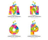 El alfabeto pone letras al logotipo Foto de archivo libre de regalías