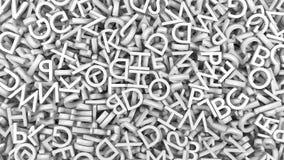 El alfabeto pone letras a blanco Imagenes de archivo