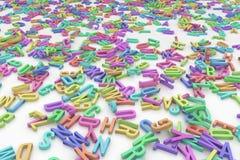 El alfabeto pone letras a colores Foto de archivo
