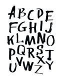 El alfabeto pone letras a la tarjeta de tiza Ejemplo dibujado mano por el inc. libre illustration