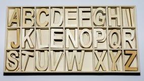 El alfabeto pone letras a muestras inglesas del ABC Foto de archivo libre de regalías