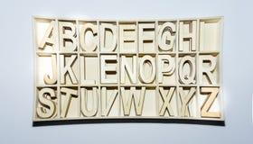 El alfabeto pone letras a muestras inglesas del ABC Imágenes de archivo libres de regalías