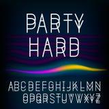 El alfabeto que bifurca, ejemplo del vector EPS 10. Fotografía de archivo libre de regalías