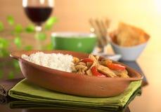 El alimento peruano llamó Lomo Saltado Foto de archivo