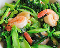 El alimento sano tailandés revolver-frió el bróculi Foto de archivo