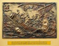 El alma sí mismo es el poder más fuerte; Sudamstra, serpiente-príncipe, crea una tormenta pesada en el río, pero falla imagen de archivo libre de regalías