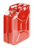 El almacenamiento de combustible rojo puede (el bidón) imagenes de archivo