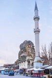 El alminar blanco en Ortahisar Foto de archivo libre de regalías