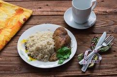 El almuerzo de la aptitud Foto de archivo libre de regalías