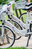 El alquiler de la bici en Kansas City es tendencia popular Foto de archivo libre de regalías
