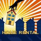 El alquiler de la casa muestra el ejemplo de Real Estate 3d Imagen de archivo libre de regalías