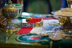 El altar de la iglesia ortodoxa Fotos de archivo