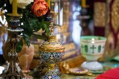 El altar de la iglesia ortodoxa Imagen de archivo libre de regalías