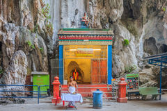 El altar hindú en Batu excava el templo Foto de archivo