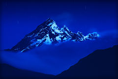 El Altar Volcano Ny Night Royalty Free Stock Image