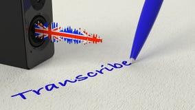 El altavoz que se colocaba en el papel con un Reino Unido texturizó soundwave y t ilustración del vector