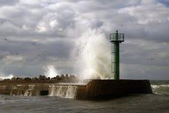 El alto causar un crash de la onda  Fotografía de archivo