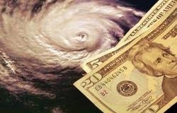 El alto coste de huracanes Foto de archivo libre de regalías
