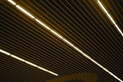 El aluminio hizo los objetos del techo la fotografía común Foto de archivo