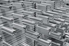 El aluminio perfila muestras Fotografía de archivo libre de regalías
