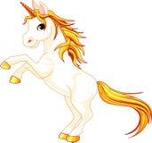 El alzarse encima de unicornio Imágenes de archivo libres de regalías
