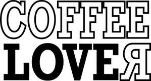 El amante del café escribe - vector ilustración del vector