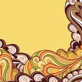 El amarillo deja el fondo ilustración del vector