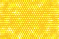 El amarillo puntea el fondo Foto de archivo