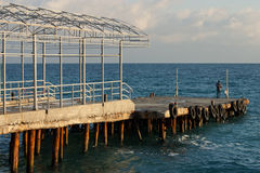 El amarrar en el Mar Negro imagen de archivo