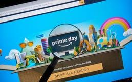 El Amazonas prepara la página del día en el sitio del Amazonas del funcionario Fotografía de archivo libre de regalías