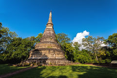 El AMI antiguo Tailandia de Wat Umong Chiang de la pagoda Foto de archivo libre de regalías
