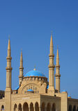 El-Amin Mosque (Beirut-Lebanon). The magnificent blue-domed mosque is seen here against a clear blue sky Royalty Free Stock Images