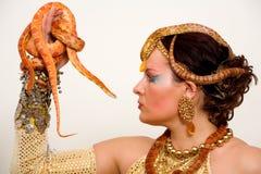 El amo de serpientes Imagen de archivo libre de regalías