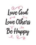 El amor de dios del amor otros sea feliz stock de ilustración