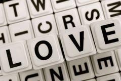 El amor de la palabra Foto de archivo
