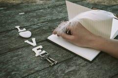 El amor de la palabra Imagen de archivo libre de regalías