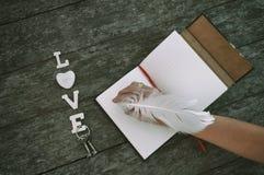 El amor de la palabra Fotografía de archivo