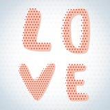 El amor de la palabra se llena de los puntos Vector Fotografía de archivo