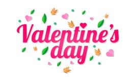 El amor de la tarjeta del día de San Valentín Fotografía de archivo libre de regalías