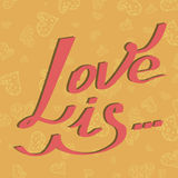 El amor de la tarjeta es Imágenes de archivo libres de regalías