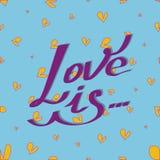 El amor de la tarjeta es Foto de archivo libre de regalías