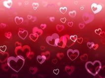 El amor de los medios del fondo de los corazones adora y amistad Imagen de archivo libre de regalías