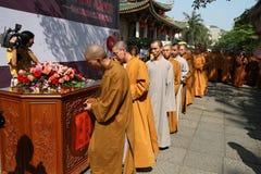El amor de los monjes Fotografía de archivo libre de regalías