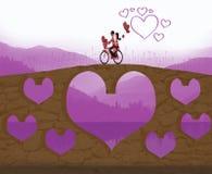 El amor es Forever stock de ilustración