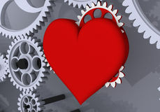 ¡El amor es la fuerza impulsora más grande! Fotografía de archivo