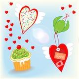 El amor está en la materia del día de tarjetas del día de San Valentín del aire Fotografía de archivo