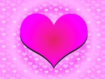 El amor está por todas partes stock de ilustración